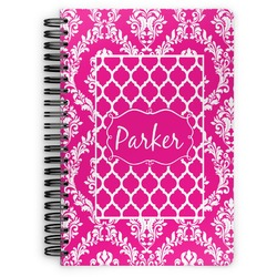 Moroccan & Damask Spiral Bound Notebook (Personalized)