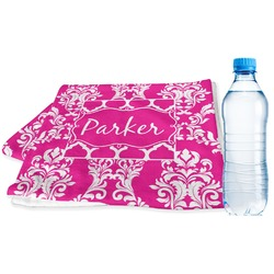 Moroccan & Damask Sports Towel (Personalized)