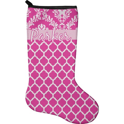 Moroccan & Damask Holiday Stocking - Neoprene (Personalized)