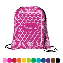 Moroccan & Damask Drawstring Backpack (Personalized)