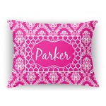 Moroccan & Damask Rectangular Throw Pillow Case (Personalized)