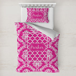 Moroccan & Damask Toddler Bedding w/ Name or Text