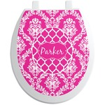 Moroccan & Damask Toilet Seat Decal (Personalized)
