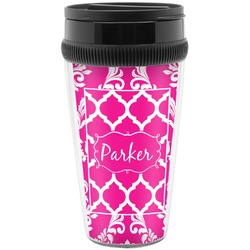 Moroccan & Damask Travel Mug (Personalized)
