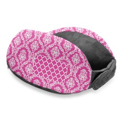 Moroccan & Damask Travel Neck Pillow (Personalized)