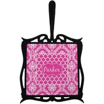Moroccan & Damask Trivet with Handle (Personalized)