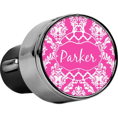 Moroccan & Damask USB Car Charger (Personalized)