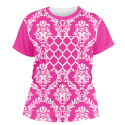 Moroccan & Damask Women's Crew T-Shirt (Personalized)