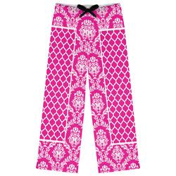 Moroccan & Damask Womens Pajama Pants (Personalized)