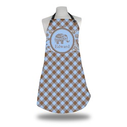 Gingham & Elephants Apron (Personalized)