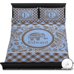 Gingham & Elephants Duvet Cover Set (Personalized)