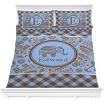 Gingham & Elephants Comforter Set (Personalized)