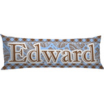 Gingham & Elephants Body Pillow Case (Personalized)