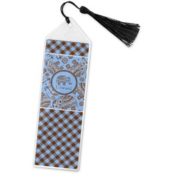 Gingham & Elephants Book Mark w/Tassel (Personalized)