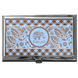 Gingham & Elephants Business Card Case