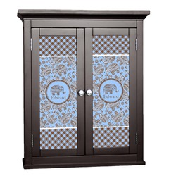 Gingham & Elephants Cabinet Decal - Large (Personalized)