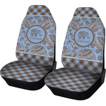 Gingham & Elephants Car Seat Covers (Set of Two) (Personalized)