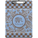 Gingham & Elephants Clipboard (Personalized)