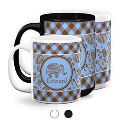 Gingham & Elephants Coffee Mugs (Personalized)