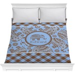 Gingham & Elephants Comforter (Personalized)