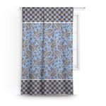 Gingham & Elephants Curtain (Personalized)