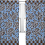 Gingham & Elephants Curtains (2 Panels Per Set) (Personalized)