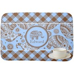 Gingham & Elephants Dish Drying Mat (Personalized)