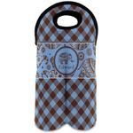Gingham & Elephants Wine Tote Bag (2 Bottles) (Personalized)