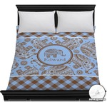 Gingham & Elephants Duvet Cover (Personalized)