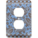 Gingham & Elephants Electric Outlet Plate (Personalized)