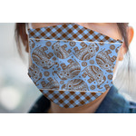 Gingham & Elephants Face Mask Cover (Personalized)