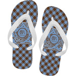 Gingham & Elephants Flip Flops (Personalized)