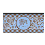 Gingham & Elephants Genuine Leather Checkbook Cover (Personalized)