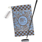 Gingham & Elephants Golf Towel Gift Set (Personalized)