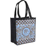 Gingham & Elephants Grocery Bag (Personalized)