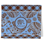 Gingham & Elephants Kitchen Towel - Full Print (Personalized)