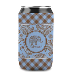 Gingham & Elephants Can Sleeve (12 oz) (Personalized)