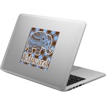 Gingham & Elephants Laptop Decal (Personalized)