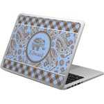 Gingham & Elephants Laptop Skin - Custom Sized (Personalized)