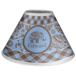 Gingham & Elephants Coolie Lamp Shade (Personalized)