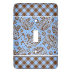 Gingham & Elephants Light Switch Covers (Personalized)