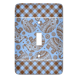 Gingham & Elephants Light Switch Covers - Multiple Toggle Options Available (Personalized)