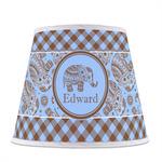 Gingham & Elephants Empire Lamp Shade (Personalized)