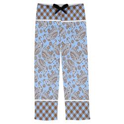Gingham & Elephants Mens Pajama Pants (Personalized)