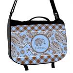 Gingham & Elephants Messenger Bag (Personalized)