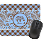 Gingham & Elephants Mouse Pads (Personalized)