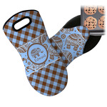 Gingham & Elephants Neoprene Oven Mitt (Personalized)