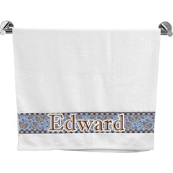 Gingham & Elephants Bath Towel (Personalized)
