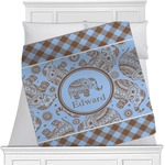 Gingham & Elephants Blanket (Personalized)