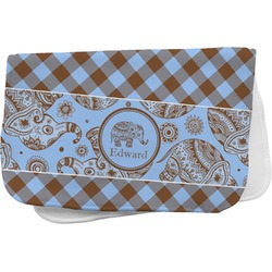 Gingham & Elephants Burp Cloth (Personalized)